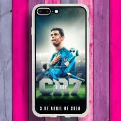 Funda Iphone 8 Plus cr7 chilena histórica