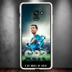 Funda Galaxy A8 2018 cr7 chilena histórica