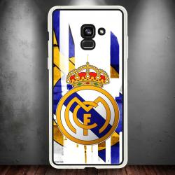 Funda Galaxy A8 2018 escudo real madrid