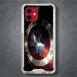 Funda Iphone 12 capitan america escudo