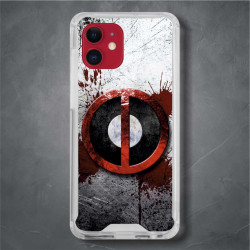 Funda Iphone 12 deadpool logo