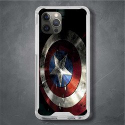 Funda Iphone 12 Pro Max capitan america escudo