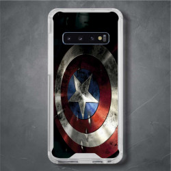 Funda Galaxy S10 Plus capitan america escudo