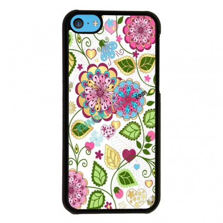 Funda Iphone 5C estampado de flores