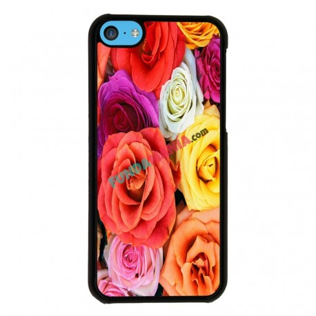 Funda Iphone 5C estampado rosas