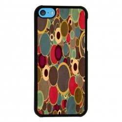 Funda Iphone 5C estampado topos de colores