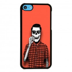 Funda Iphone 5C calavera fumando