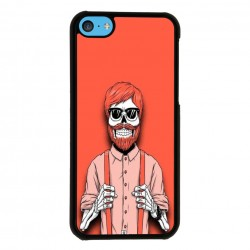 Funda Iphone 5C calavera peliroja