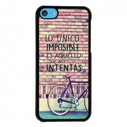 Funda Iphone 5C frase sobre lo imposible