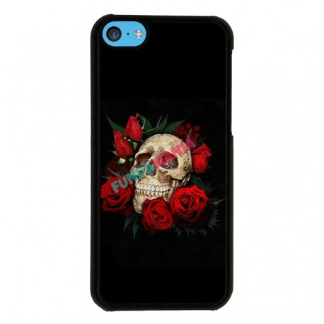 Funda Iphone 5C calavera con rosas