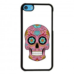 Funda Iphone 5C calavera mexicana rosa