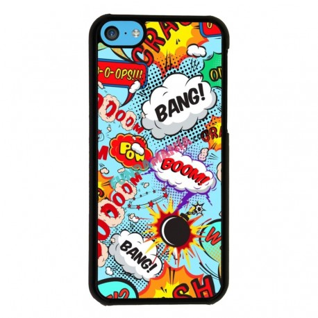 Funda Iphone 5C cómic onomatopeyas