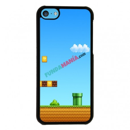 Funda Iphone 5C mario bros vintage
