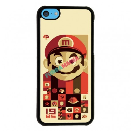 Funda Iphone 5C mario vintage