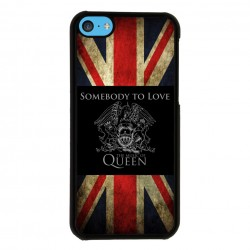 Funda Iphone 5C queen bandera inglesa