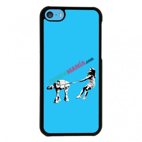 Funda Iphone 5C star wars banksy