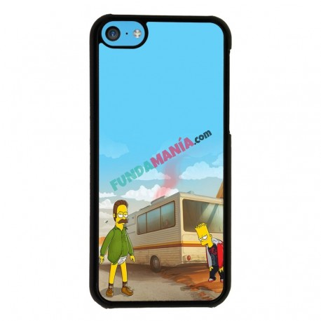 Funda Iphone 5C heisenberg y bart