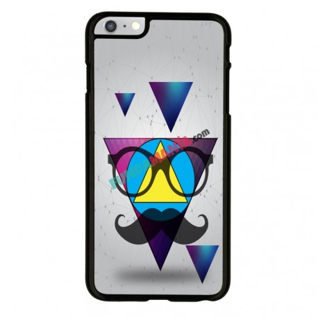 Funda Iphone 6 Iphone 6s triángulo con gafas hipster