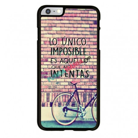 Funda Iphone 6 Iphone 6s frase sobre lo imposible