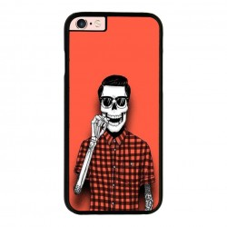 Funda IPhone 6 plus Iphone 6s plus calavera fumando