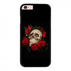 Funda Iphone 6 Plus Iphone 6s Plus calavera con rosas