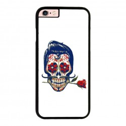 Funda Iphone 6 Plus Iphone 6s Plus calavera mexicana pelo azul