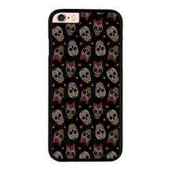 Funda Iphone 6 Plus Iphone 6s Plus calaveras con lazo rosa