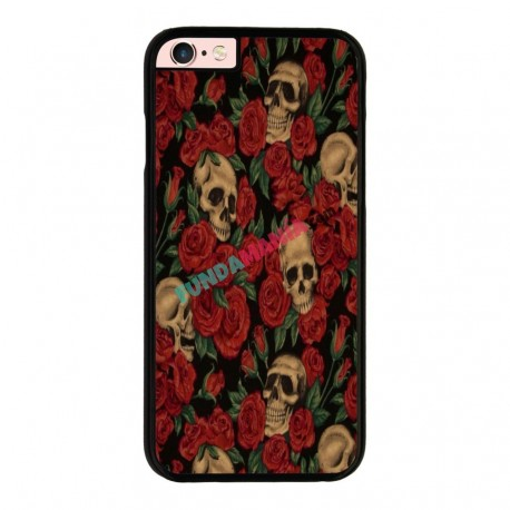 Funda Iphone 6 Plus Iphone 6s Plus calaveras y rosas