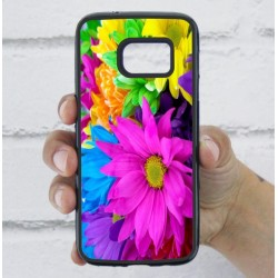 Funda Galaxy S7 estampado margaritas de colores