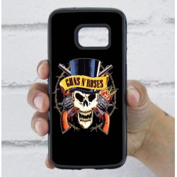 Funda Galaxy S7 guns and roses calavera