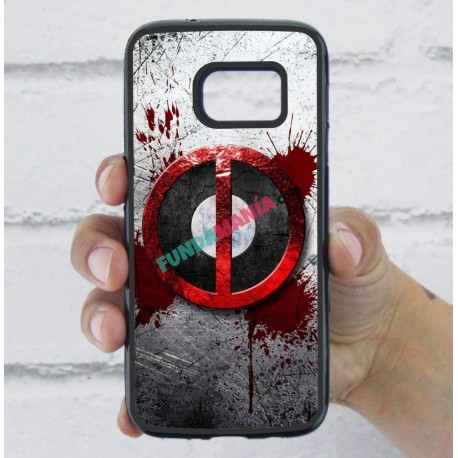 Funda Galaxy S7 deadpool logo