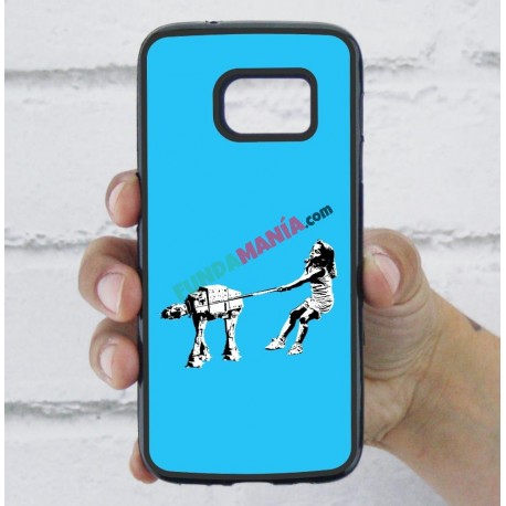 Funda Galaxy S7 star wars banksy