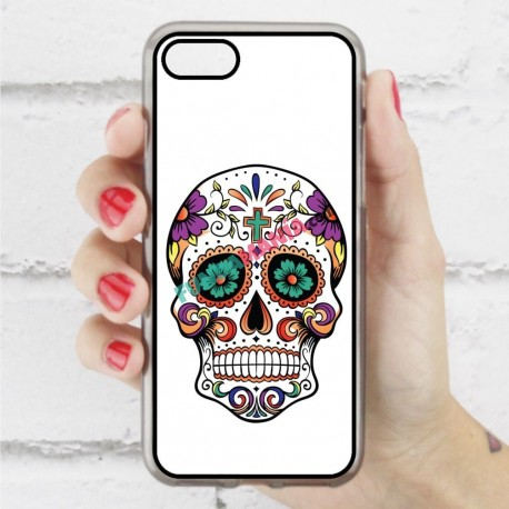 Funda Iphone 7 calavera mexicana ojos verdes