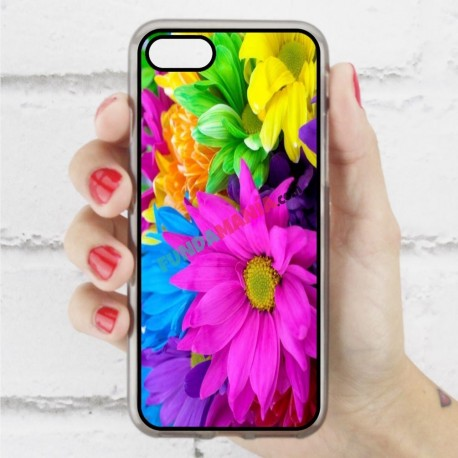 Funda Iphone 7 estampada con margaritas de colores