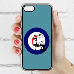Funda Iphone 7 hipster vespa azul