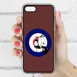 Funda Iphone 7 hipster vespa marrón