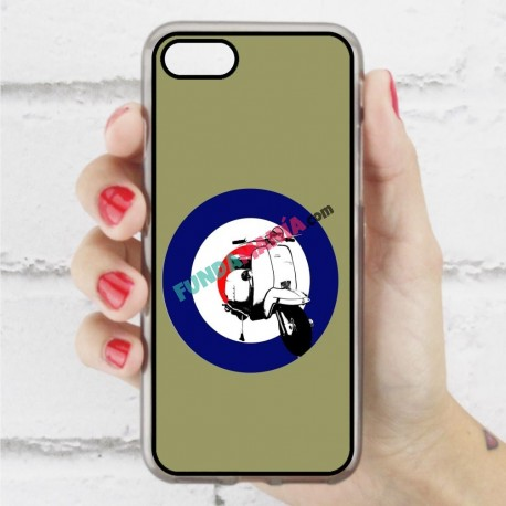 Funda Iphone 7 hipster vespa verde