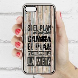 Funda Iphone 7 frase sobre el plan