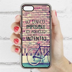 Funda Iphone 7 frase sobre lo imposible