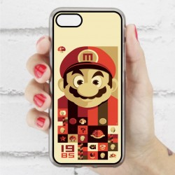 Funda Iphone 7 mario bros vintage