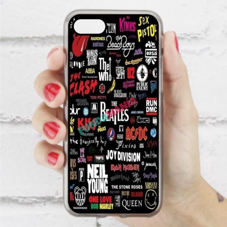 Funda Iphone 7 rock pop míticos