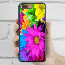 Funda iPhone 7 Plus estampada con margaritas de colores