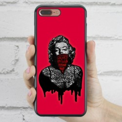 Funda iPhone 7 Plus Marilyn vintage rosa