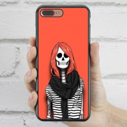 Funda iPhone 7 Plus Hipster Calavera chica