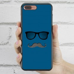 Funda iPhone 7 Plus Hipster bigote y gafas