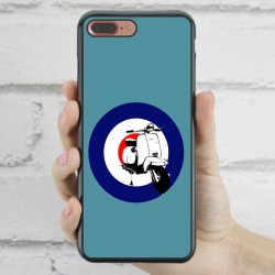 Funda iPhone 7 Plus Hipster Vespa azul