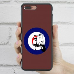 Funda iPhone 7 Plus Hipster Vespa marrón