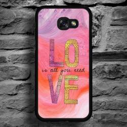 Funda Galaxy A5 2017 love fondo acuarela