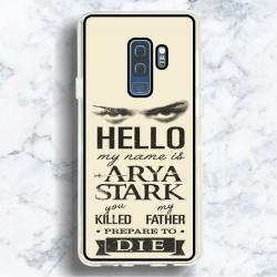 Funda Galaxy S9 Plus arya stark frases