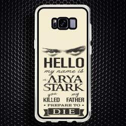 Funda Galaxy S8 Plus arya stark frases